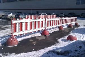 ограждения с помощью полусфер бетонных